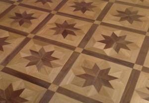 Podlaha- dřevěné mozaiky
